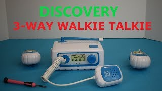 Discovery 3 Way Walkie Talkie Demonstration and Testing