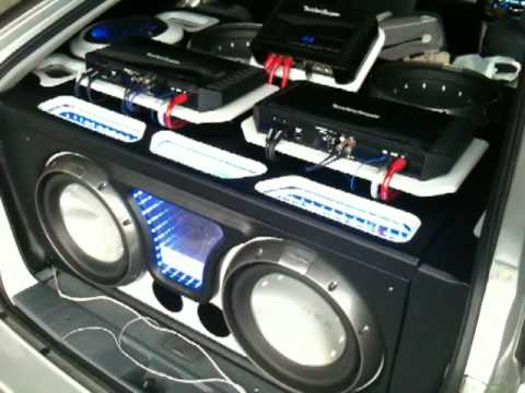 4 rockford fosgate t1 12 subwoofers youtube sciox Gallery