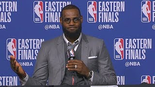 LeBron James Shocks Reporters By Being Able To Remember Every Play From Game 1 vs Celtics!
