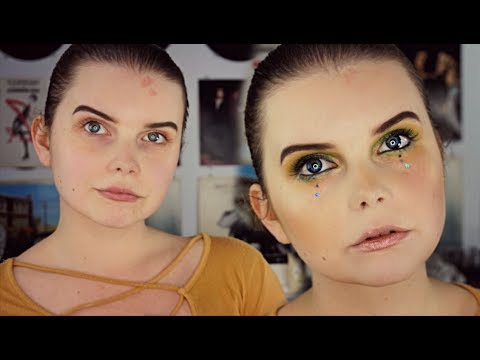 Green Eyeshadow + Mustard Blush | Aesthetic Makeup thumbnail