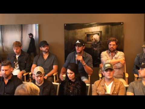 Luke Bryan on celebrating the success with the songwriters