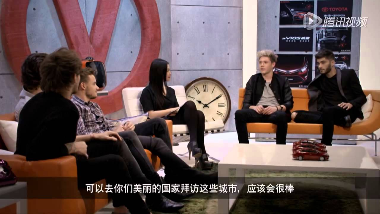 2013 One Direction Toyota Vios Interview Chinese 3 Youtube