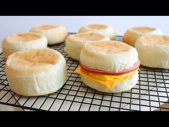 English muffin recipe to use until you become a grandmother / Eggless, No Butter