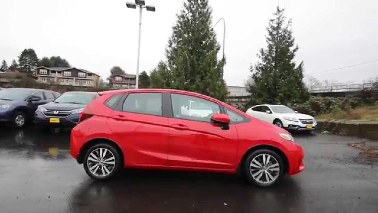 Honda Of Seattle >> 2015 Honda Fit EX | Milano Red | FM734173 | Seattle | Renton - YouTube