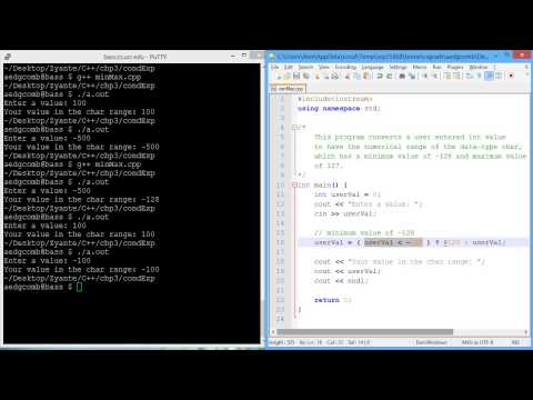 Programming example - Conditional expressions