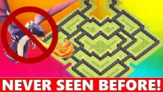 Clash Of Clans | BEST TOWN HALL 8 (TH8) WAR DEFENSE! NEVER SEEN BEFORE! ANTI DRAGON 2015