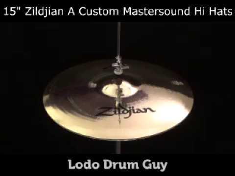 "SOLD OUT 15"" Zildjian A Custom Mastersound Hi Hats"