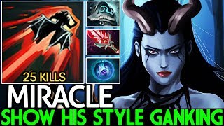 MIRACLE [Queen of Pain] Show His Style Ganking 18 Min Beyond Godlike 7.22 Dota 2