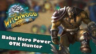 Baku Hero Power OTK Hunter   Hearthstone Deck Spotlight   Witchwood   Insane 192 Damage Combo
