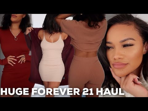 HUGE FOREVER 21 FALL TRY ON HAUL! | ALLYIAHSFACE