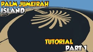 Minecraft Dubai Palm Jumeirah Island Tutorial Part 1
