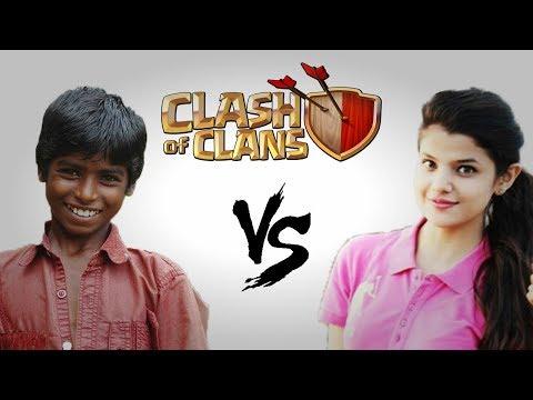 Boys vs Girls Clash Of Clans | INDIA