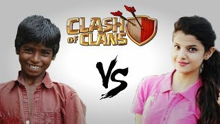 Boys vs Girls Clash Of Clans | INDIA