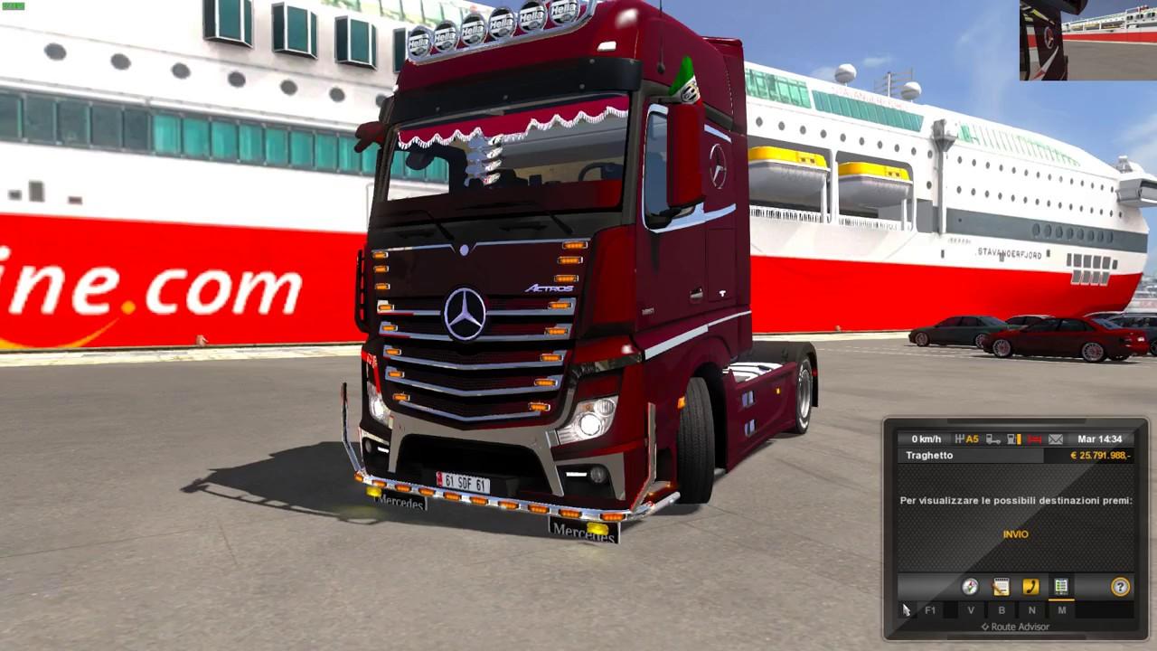 Euro Truck Simulator 2 (1 28) Mercedes Benz MP4 Termokıng Edıt by Kaptan61  + DLC's & Mods by Isabella Vanelli