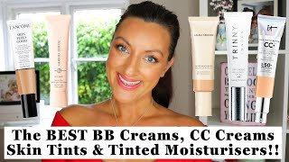 THE BEST CC Creams, BB Creams, Skin Tints and Tinted Moisturizers!