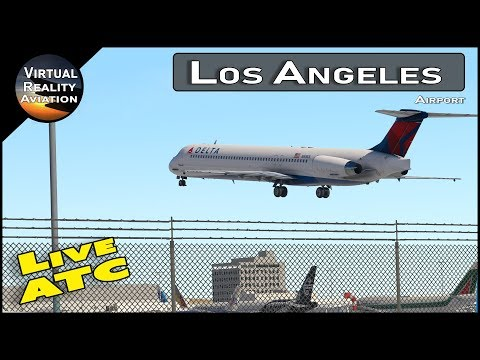 Flight Simulator | X Plane 11 | LAX Airport with Live ATC and Airline Flight Schedules