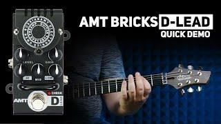 AMT Bricks D-Lead (Diezel Emulates) tube preamp DEMO (no talking)