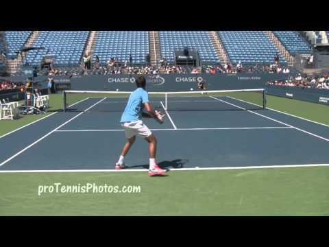 Del Potro And Berdych, 2013 US Open Practice