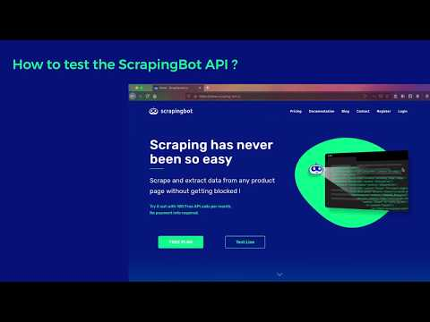 How to test the ScrapingBot API