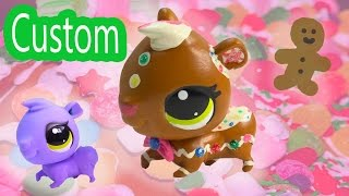 Custom Lps Gingerbread Man Diy Littlest Pet Shop Holiday Christmas Rainbow Sprinkle Frosting