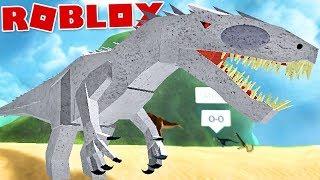 "Dinosaur Simulator (Roblox)-Indominus Rex, LEGENDARY dinosaur!! ""Albino Terror""-(#37) (EN-BR)"
