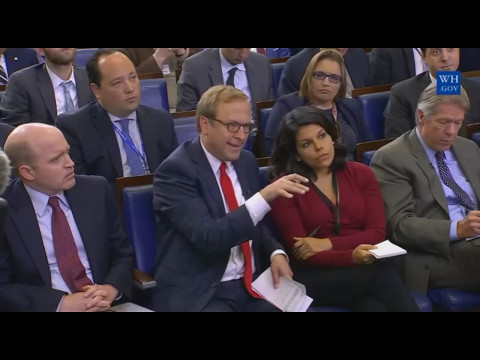 Sean Spicer GRILLED on Mike Flynn breaking the law trumps first 100 days 4/25/2017