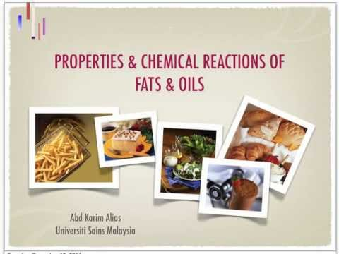 Chemical Reactions of Fat and oils