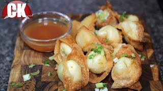 Crab and Cream Cheese Wontons with Sweet and Sour Sauce