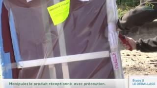 Le déballage du colis logis et clôtures : portillon, portail, clôture, pare-vue