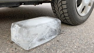 Crushing Crunchy & Soft Things by Car! - EXPERIMENT: CAR VS GIANT ICE