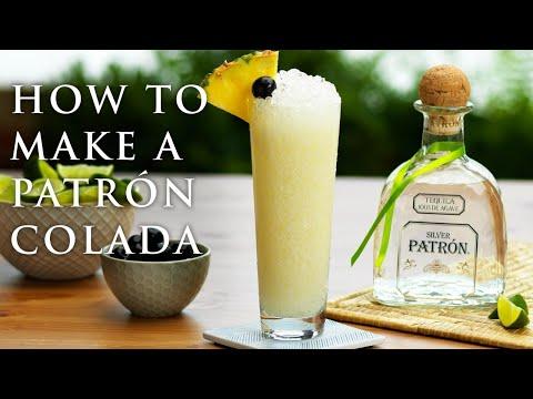 How To Make A Piña Colada With Patrón Silver - Spring Cocktail Recipes   Patrón Tequila