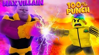 I Bought a 100% PUNCH ITEM and THANOS is gonna be DEAD! (Roblox Superhero Simulator)