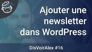 DVA16 - Comment intégrer une newsletter dans WordPress ?