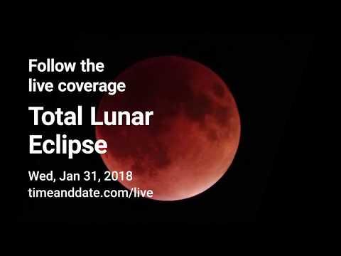 Lunar eclipse live stream – January 31, 2018