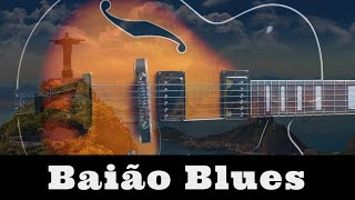 baio groove jam | blues guitar backing track - a minor