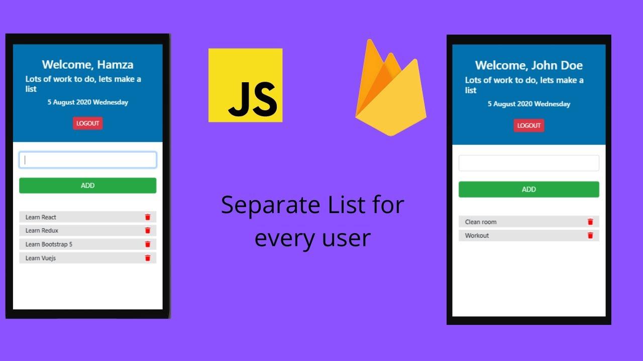 Todo App With Vanilla JS   Using Firebase Auth & Firebase Firestore