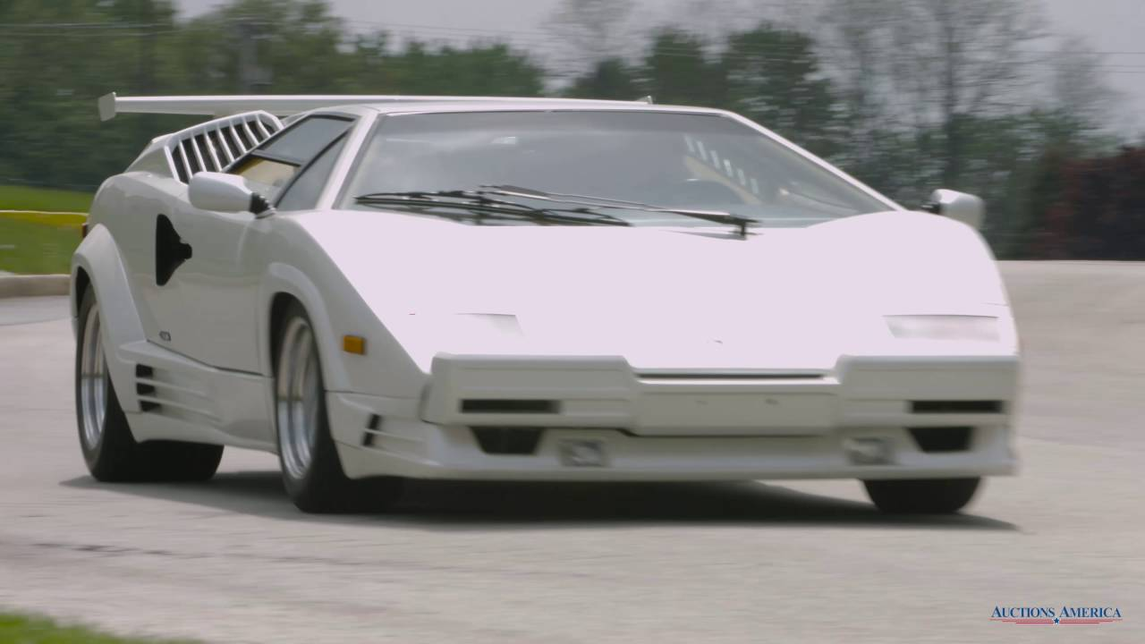 Auction block: 1991 lamborghini countach 25th anniversary.