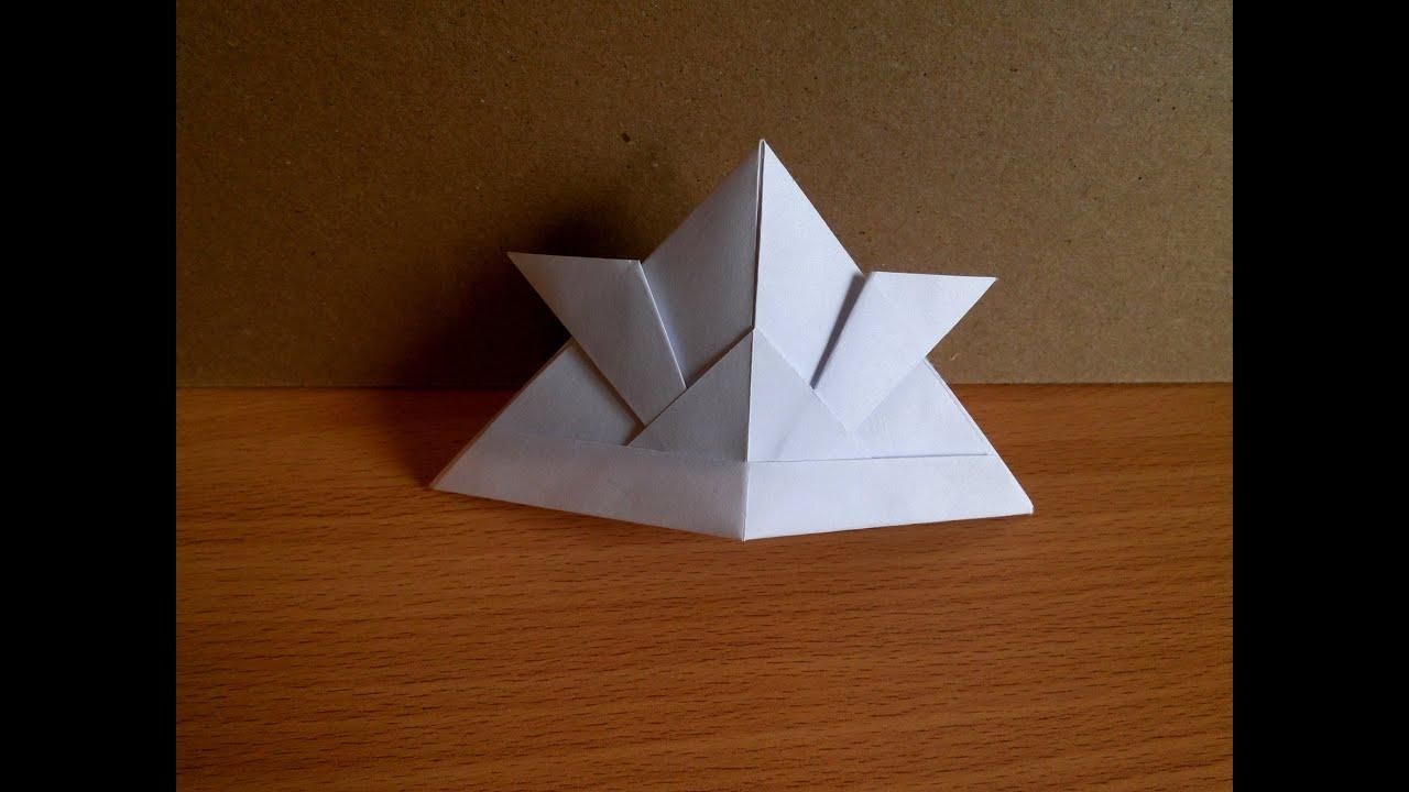 Как сделать оригами шапку фото 969
