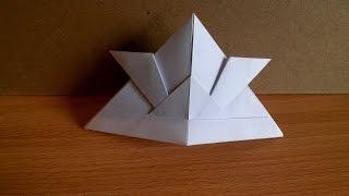видео Как сделать шапку из бумаги своими руками? Уроки оригами