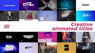 Títulos creativos animado para After Effects