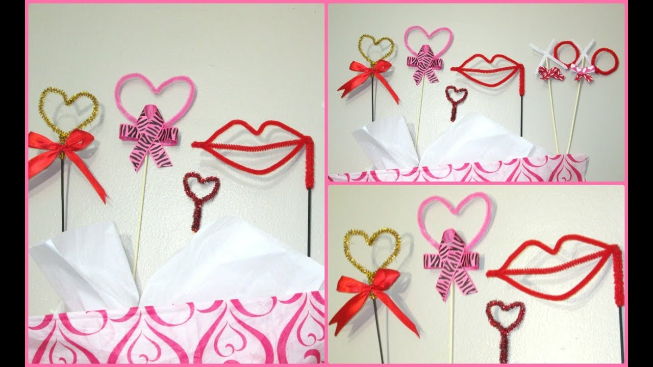 Diy decoraciones hechas con limpia pipas para san valentin for Decoracion para pared san valentin