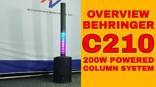 Behringer C210 200W Powered Column System Overview