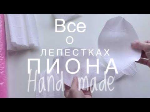 видео: МК/diy/Все о лепестках пиона