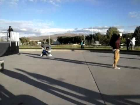 Fight in Elko, Nevada at the skate park