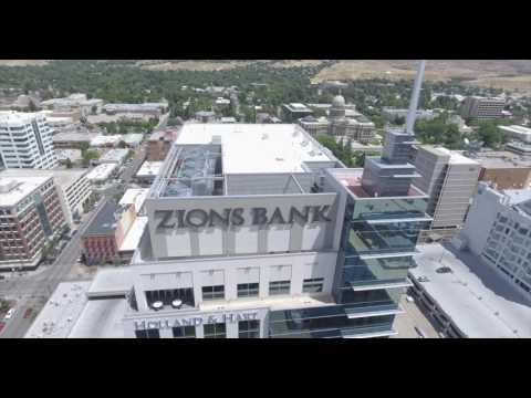 Aerial Tour of Downtown Boise, Idaho