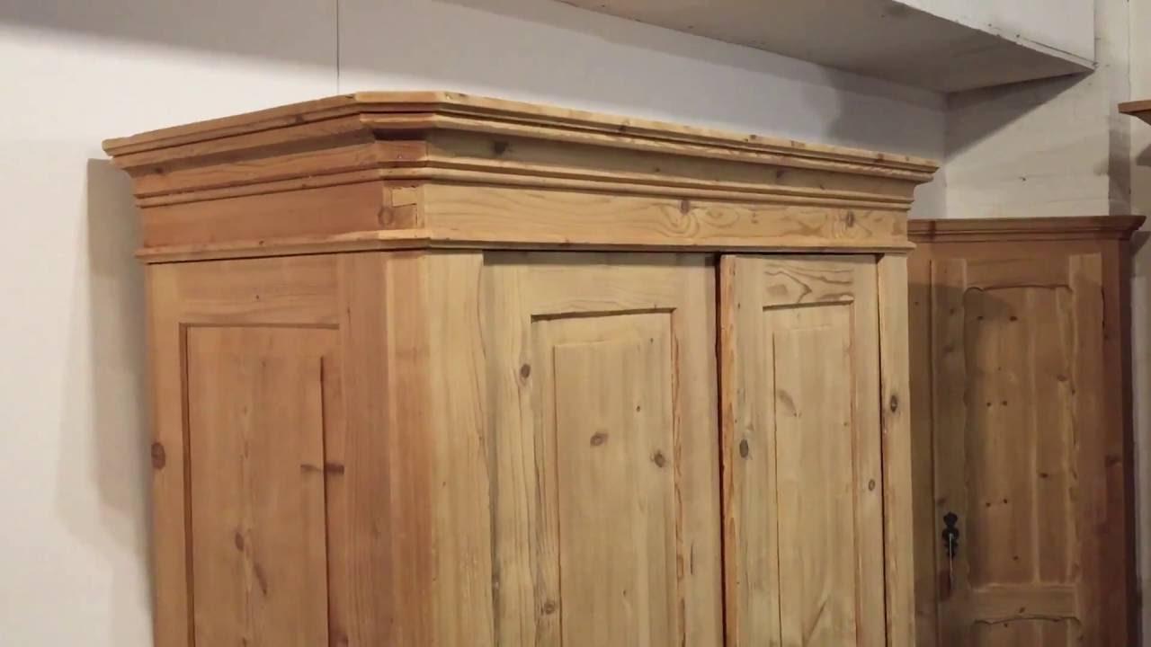 Double Door Antique Wardrobe - Pinefinders Old Pine Furniture Warehouse -  YouTube - Double Door Antique Wardrobe - Pinefinders Old Pine Furniture