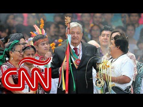 Así finalizó López Obrador su discurso como presidente en el Zócalo