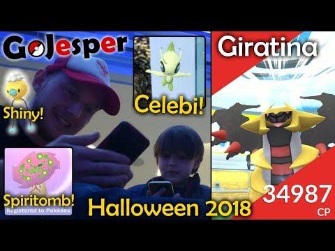 Giratina! Spiritomb! Celebi! Shiny Drifloon! Halloween 2018 (Dansk Pokémon GO) thumbnail