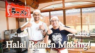 Halal Ramen Making Challenge!! (Ramen Factory in Kyoto)