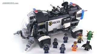 lego Movie 70815 Super Secret Police Dropship Обзор